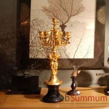 Candélabre angelot en or mat Objet de Curiosité -DL069