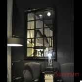 miroir geant quadrille et torsades laiton objet de curiosite mr017