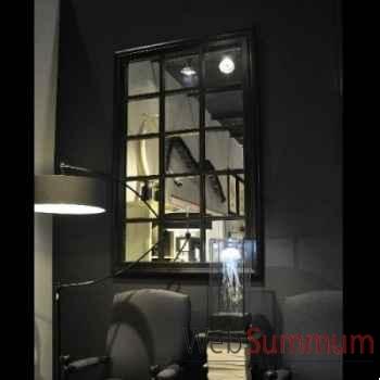 Miroir geant quadrillé et torsades laiton Objet de Curiosité -MR017