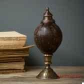 urne noix de coco facon xvieme siecle objet de curiosite ve030