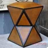 pouf en cuir objet de curiosite si040