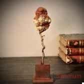 aragonite sur branche de bronze objet de curiosite pumi219 x