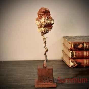 Aragonite sur branche de bronze Objet de Curiosité -PUMI219-X