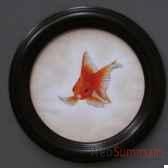 tableau rond de poison rouge objet de curiosite ta073