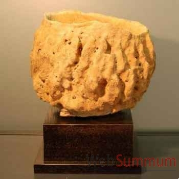 Eponge tonneau sur base carrée noire Objet de Curiosité -PU128-3