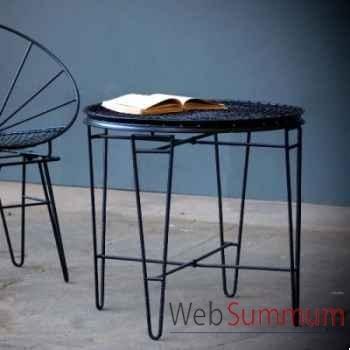 Table ronde 50's noire Objet de Curiosité -FE052