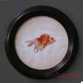 tableau rond de poison rouge objet de curiosite ta076