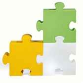 module puzzle lumineux pop jaune slide sd puz050