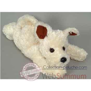 Les Petites Marie-Peluche rétro, chien blanc Houra