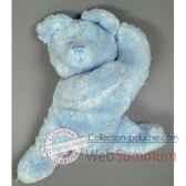 les petites marie peluche retro ours louis couleur bleu