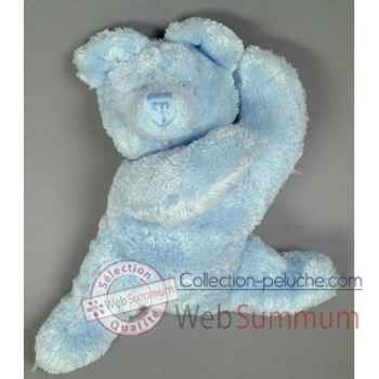Les Petites Marie-Peluche rétro, ours Louis couleur bleu
