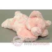 les petites marie peluche retro ours louisette couleur rose