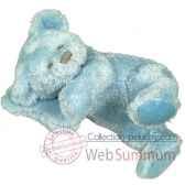 les petites marie peluche retro ours mathias couleur bleu