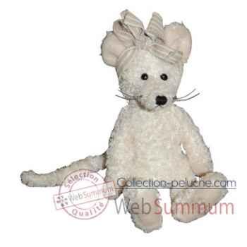Les Petites Marie-Peluche rétro, souris Zug blanche