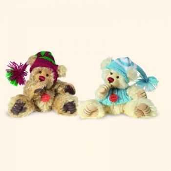 """Peluche Hermann Teddy Original® ours \""""Suceur de pouce Hellgold\"""" en mohair édition limitée - 15055 8"""