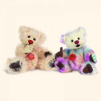 """Peluche Hermann Teddy Original® ours \""""Suceur de pouce bunt\"""" en mohair édition limitée - 15061 9"""