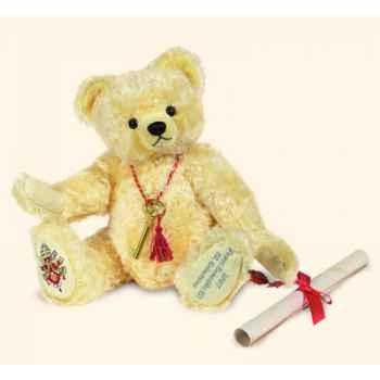 """Peluche Hermann Teddy Original® ours \""""Pape Benedict XVI\"""" en mohair édition limitée - 15523 2"""