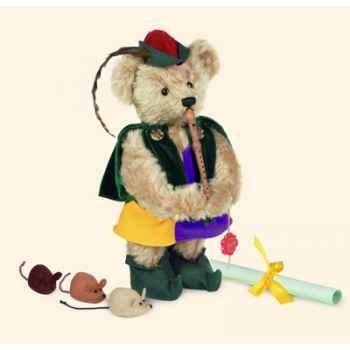 """Peluche Hermann Teddy Original® ours \""""Hamelin joueur de pipeau\"""" en mohair édition limitée - 11829 9"""