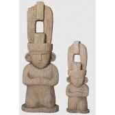 statue maya 080 m aspect vieille pierre rochers diffusion mf 80