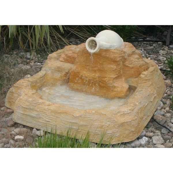 Fontaine jarre bassin rochers diffusion 027 028 - Jarre deco jardin lyon ...