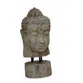 tete de bouddha sur socle rochers diffusion tbs 100