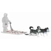 traineau inuite avec 2 huskys licence inuit bullyland b54550