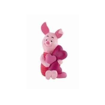 Disney - porcinet avec coeurs licence winnie l'ourson et ses amis Bullyland -B12326