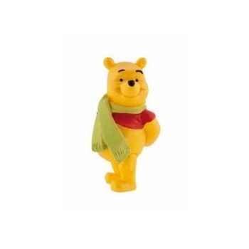 Disney - winnie l'ourson avec echarpe licence winnie l'ourson et ses amis Bullyland -B12327