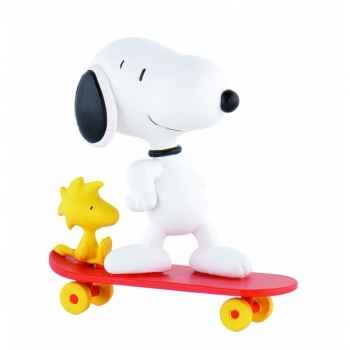 Snoopy sur planche licence snoopy  Bullyland -B42555