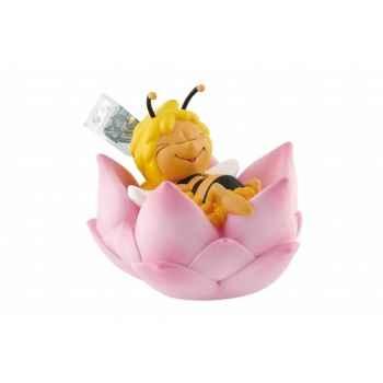 Tirelire maya dans fleur licence maya l abeille Bullyland -B43400