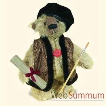 """Peluche Hermann Teddy Original® ours \""""Rembrant\"""" édition limitée - 15520 1"""