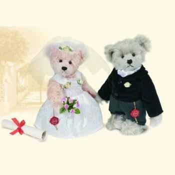 """Peluche Hermann Teddy Original® ours \""""la mariée\"""" edition limitée - 15518 8"""