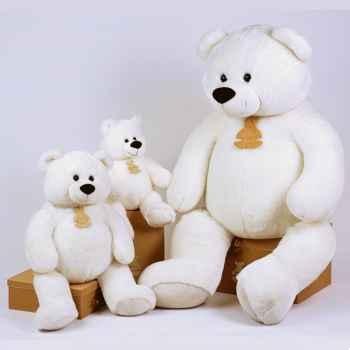 Peluche Gros ours blanc petit modèle -ho1245Blc