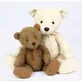 peluche collection ours ivoire grand modele ho1234