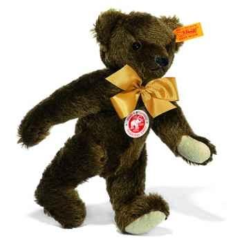Peluche Steiff Ours Teddy 1909 mohair brun foncé -st000423