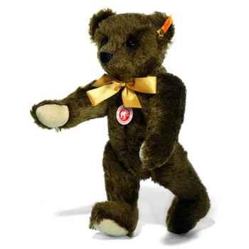 Peluche Steiff Ours Teddy 1909 mohair brun foncé -st000447