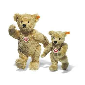 Peluche Steiff Ours Teddy 1920 mohair blond clair -st000669