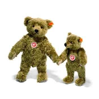 Peluche Steiff Ours Teddy 1920 mohair brun clair -st000737
