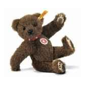 peluche steiff ours teddy brun st027697