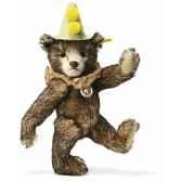peluche steiff ours teddy clown mohair brun chine st003424