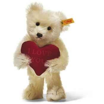 Peluche Steiff Ours Teddy I love you mohair crème -st002885