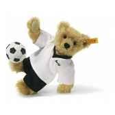 peluche steiff ours teddy joueur de footbalmohair blond st002908