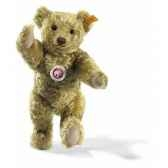 peluche steiff ours teddy mohair cuivre jaune st004261