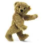peluche steiff ours teddy mohair cuivre jaune st004810