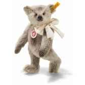 peluche steiff ours teddy mohair gris st000577