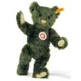 peluche steiff ours teddy mohair vert fonce st005480