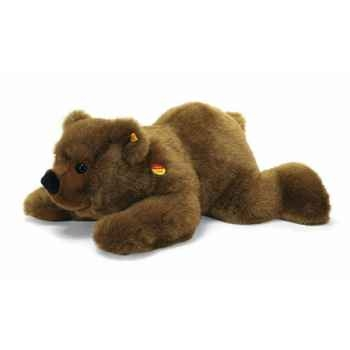 Peluche Steiff Ours brun Pummy couché -st069901