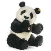 peluche steiff ours panda siro mohair assis st060144