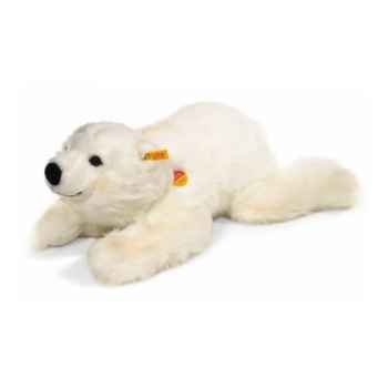 Peluche Steiff Ours polaire Snobby couché-113024