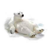 peluche steiff ours polaire studio allonge sur le dos 501562